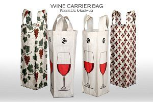 Download Wine Bottle Fabric Carry Bag Psd Mockup Free Mockups Psd Wine Bottle Design Wine Bag Wine Bottle Packaging