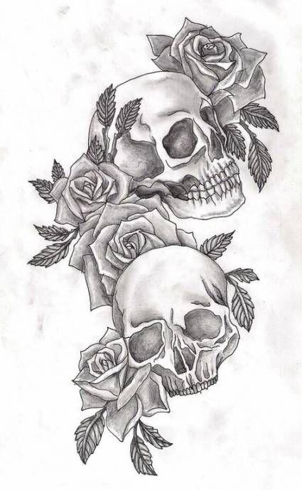 34 Ideas Tattoo Leg Flower Rose Sugar Skull Skull Rose Tattoos Tattoo Design Drawings Sleeve Tattoos For Women
