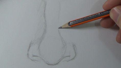 تعليم الرسم كيفية رسم الانف وتظليله بطريقة سهلة جدا Youtube Nose Drawing Drawings Art Drawings