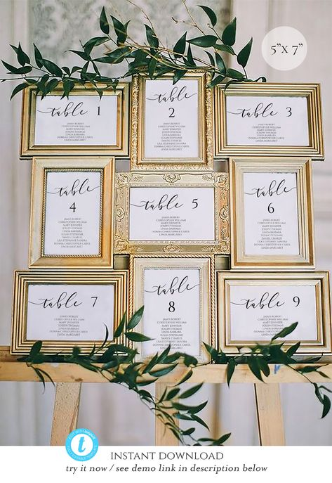 40 New Ideas Diy Wedding Reception Seating Wedding Reception Seating, Seating Chart Wedding, Wedding Table Assignments, Wedding Sitting Chart, Diy Wedding Table Numbers, Antique Wedding Decorations, Framed Table Numbers, Reception Seating Chart, Wedding Ceremony