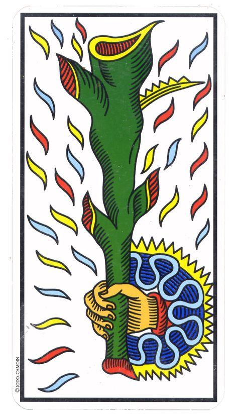 As De Baton Tarot De Marseille Cartes De Tarot Vintage