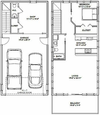 Details About 20x40 House 1 Bedroom 1 5 Bath 965 Sq Ft