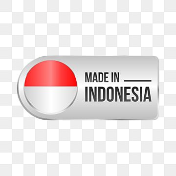 Silver Modern Made In Indonesia Product Logo With Flag Ornament Color Indonesia Made In Product Png And Vector With Transparent Background For Free Download Indonesia How To Make Geometric Background