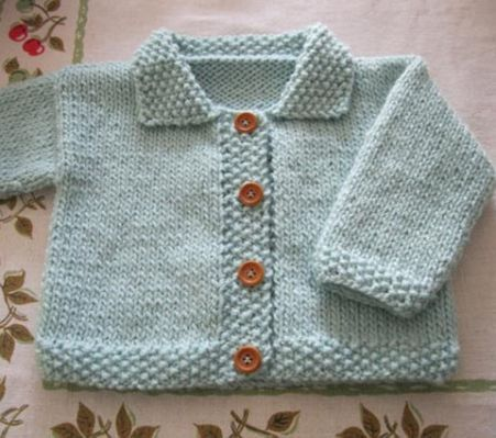 free easy knitting patterns for | Baby knits | Baby cardigan