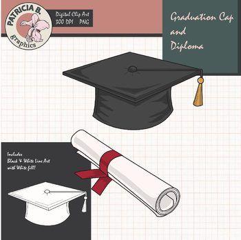 Graduation Clipart Realistic Graduation Cap And Diploma Clip Art Graduation Cap Clip Art Freebies
