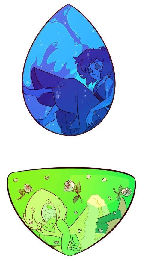 Lapis lazuli & peridot