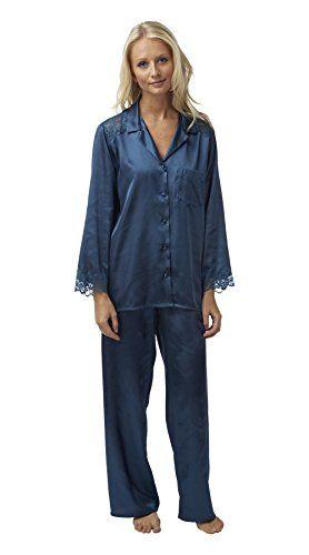 Ladies satin pyjamas pajama plus size 18 20 22 24 26 28 elegant