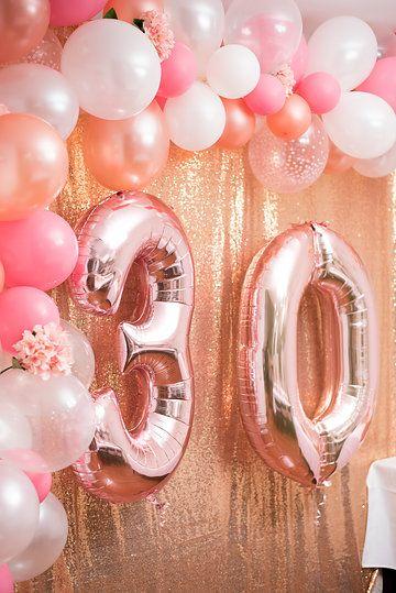 Rose Gold 30th Birthday 30th Birthday Decorations 30th Birthday