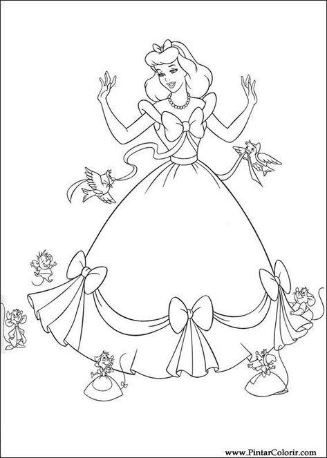 La Cenicienta Con Imagenes Colorear Princesas Princesa Para