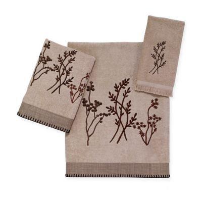 Avanti Laguna Bath Towel In Linen Embroidered Bath Towels Towel