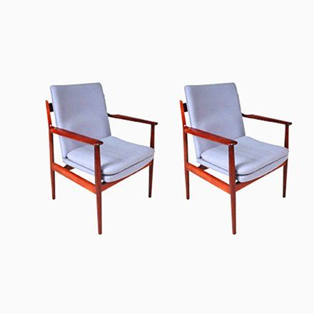 Model 341 Armchairs By Arne Vodder For Sibast 1960s Set Of 2
