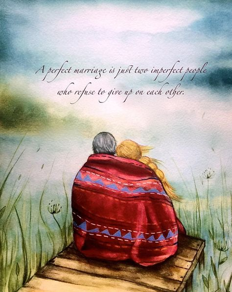 Original art work the red blanket~Claudia Tremblay Love One Another Quotes, Claudia Tremblay, Cadeau Couple, Anniversary Gifts For Parents, Anniversary Sayings, Art Prints Quotes, Quote Art, Perfect Marriage, Art Original