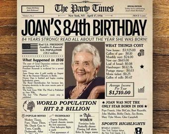 1931 Poster birthday gift Vintage Newspaper Poster 90th Birthday Newspaper Poster 90th birthday gift woman 100th birthday gift for woman