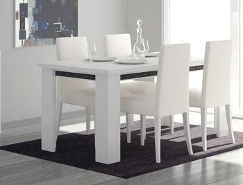 table de salle manger design cristal coloris blanc brillant ornement de strass pinterest - Salle A Manger Desing