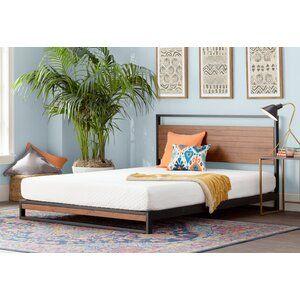 Novogratz Francis Farmhouse Metal Platform Bed Reviews Wayfair In 2020 Low Loft Beds Mattress Sizes Gel Memory Foam Mattress
