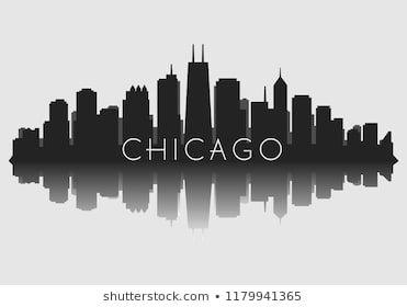 Chicago City Skyline Silhouette Background Vector Stock Vector Royalty Free 153794045 Shutt City Skyline Silhouette Chicago Skyline Silhouette City Skyline