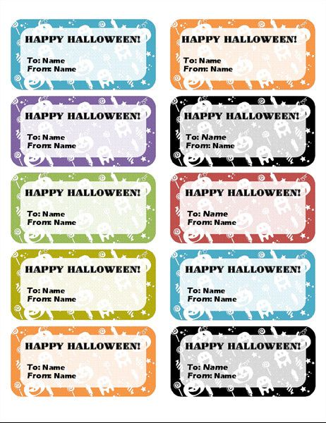 Microsoft Office Labels Template Return Address Labels Rainbow Bears Design 30 Per Page In 2020 Label Templates Printable Label Templates Address Label Template