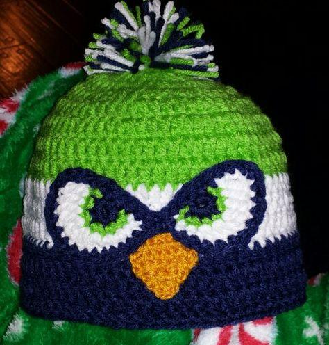 0c7b6701863 Seattle Seahawks crochet beanie