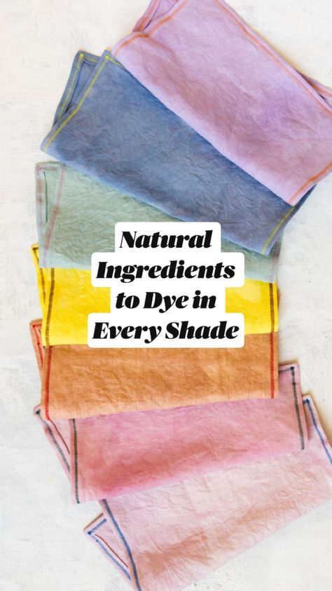 Free Natural Ingredients to Dye in Every Shade