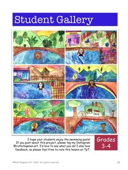 Swimming Pools Inspired By David Hockney Pop Art Lesson For
