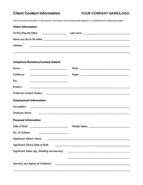 Client Info Sheet Template Coaching Tools From The Coaching Tools Company Com Coaching Tools Real Estate Client Fact Sheet