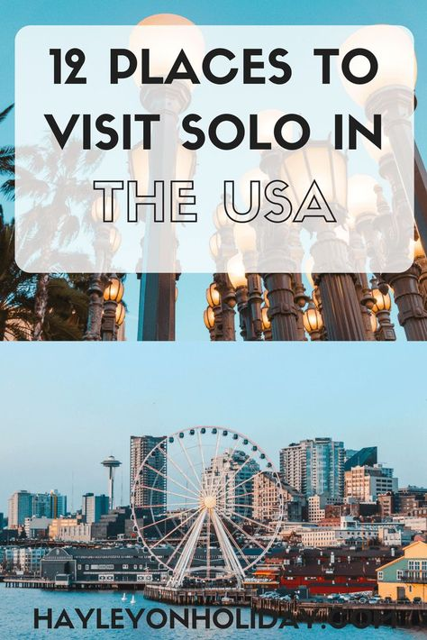 Read my guide to the best places to travel alone in the US. From Portland to Las Vegas, these are the best cities I've visited solo in the United States.  solo travel | solo female travel | solo travel in the US | budget travel in the US | solo travel tips | visit America | #UnitedStates #America #solotravel