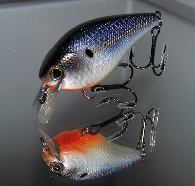 Custom painted 2.5 Square bill crank bait bass PEARL THREADFIN SHAD