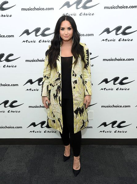 Demi Lovato visits Music Choice in NYC.