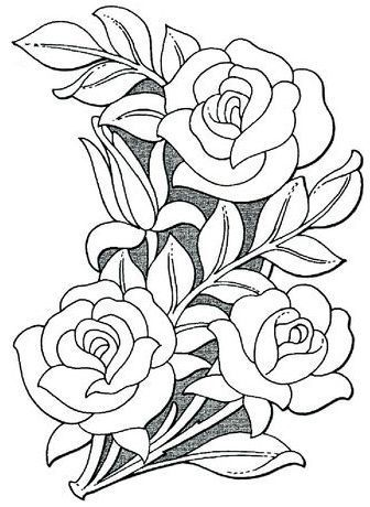Mas Rosas Flower Pattern Drawing Floral Design Drawing Flower Drawing