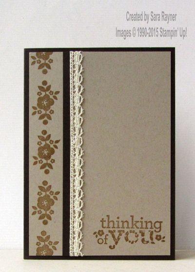Stampin' Up! ... handmade card ... kraft with black and vanilla ... like the homespun look with elegant black matting ...