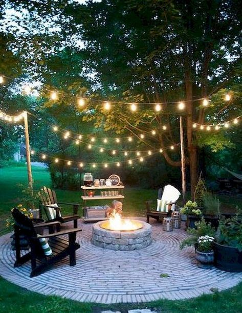 Impressive Backyard Fire Pit And Seating Area Ideas 19 Backyard Landscaping Designs Backyard Fire Backyard Seating