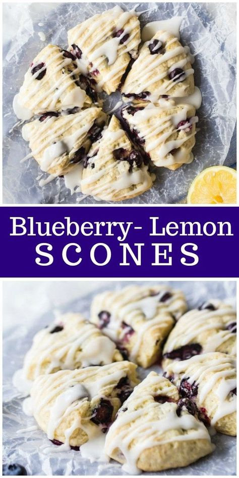 Blueberry Lemon Scones recipe id perfect for Easter or a spring brunch—from RecipeGirl.com #blueberry #lemon #scones #breakfast #summer #recipe #RecipeGirl