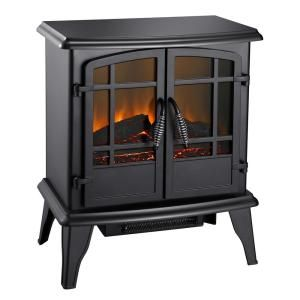 Stylewell Legacy 1 000 Sq Ft Panoramic Infrared Electric Stove In Black Est 540t 10 Y The Home Depot Fireplace Heater Wood Stove Heater Electric Fireplace Heater