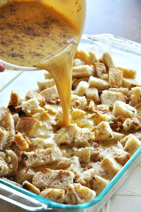 Pumpkin french toast bake! Hello Thanksgiving morning...