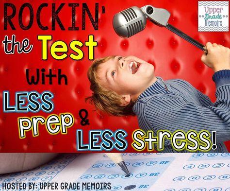 Making Test Prep Fun! Upper Grade Memoirs; #Rockin' the Test
