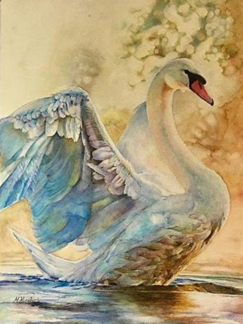 Original Watercolor Painting, Animal Painting, Swan Painting, Watercolor Painting, Original Abstract Painting, Original Watercolor Swan