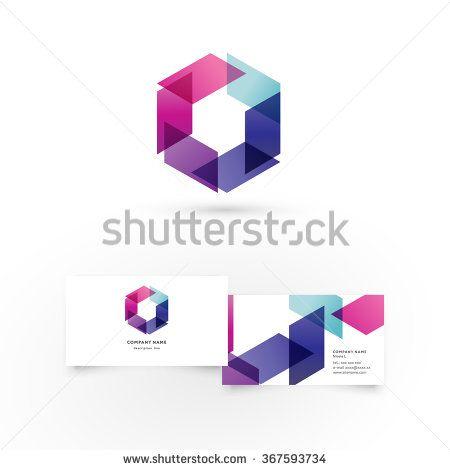 Modern Icon Design Logo Element With Business Card Template Best For Identity And Logotypes Tolle Visitenkarten Modernes Logo Visitenkarten