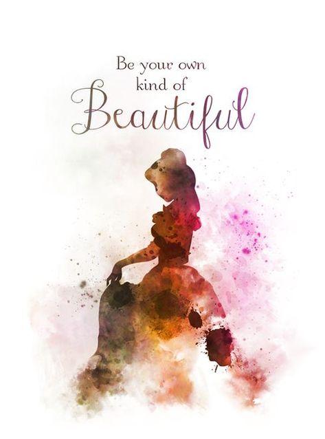 Belle Quote ART PRINT Beauty and the Beast, Princess, Nursery, Gift, Wall Art, Home Decor, Disney, Gift Ideas, Birthday, Christmas, Be your own kind of Beautifu...   Disney Princess Wall Art    Disney Princess Bedroom Diy     Princess Room Ideas For A Toddler   Royal Princess Bedroom. #decor #Wew