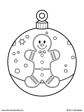 Downloads Archive Tim S Printables Christmas Ornament Coloring Page Coloring Pages Christmas Ornaments