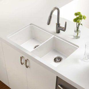Fireclay Kitchen Sinks You Ll Love Wayfair Double Basin
