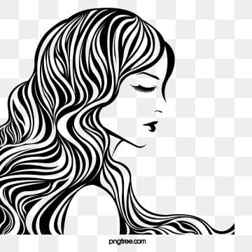 Woman Png Images Vector And Psd Files Free Download On Pngtree In 2021 Wreath Drawing Pop Art Illustration Black And White Lines