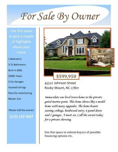 House For Sale Flyer Template For Sale By Owner Free Flyer Template By Hloom House Sale Flyer Real Estate Flyers Open House Real Estate