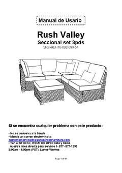 Better Homes & Gardens Rush Valley 3 Piece Outdoor Sectional