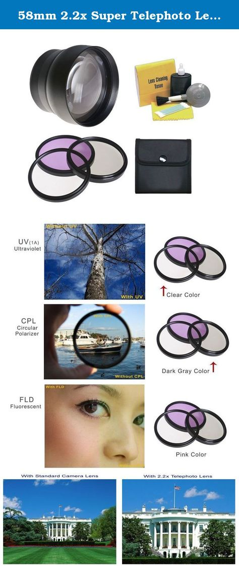 55mm Multi-Threaded 3 Piece Lens Filter Kit Made by Optics Nwv Direct Microfiber Cleaning Cloth. Canon EOS 7D High Grade Multi-Coated
