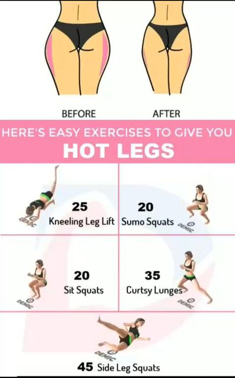 Easy Exercises to Get Hot Legs