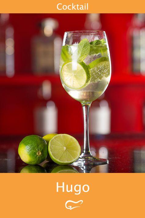 Hugo ist ein erfrischender Cocktail. Mit diesem Rezept gelingt der In-Cocktail einfach und schnell. #hugo #cocktail #getränk #rezept #gutekueche #sommer #