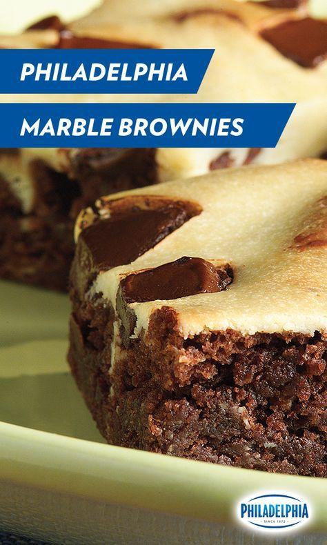 Philadelphia Marble Brownies Recipe Desserts Cream Cheese Recipes