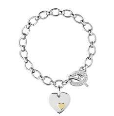 Heart Disc Charm Bracelet Official Links Of London