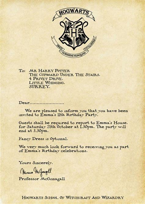 Harry Potter Letter Harry Potter Acceptance Letter Personalised Invite 13859 S L Harry Potter Letter Harry Potter Acceptance Letter Hogwarts Acceptance Letter