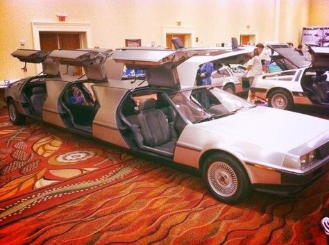 Back to the Future style ride! Would be great for a #geek #wedding!! #delorean